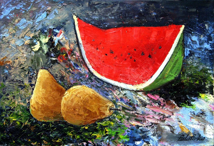 Watermelon and pears